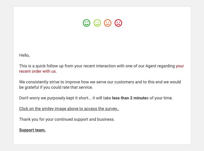 Feedback email